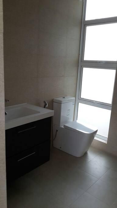 WC and wash basin