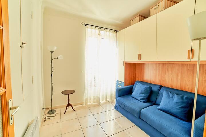 Chambre 2 avec confortable Canapé-lit convertible