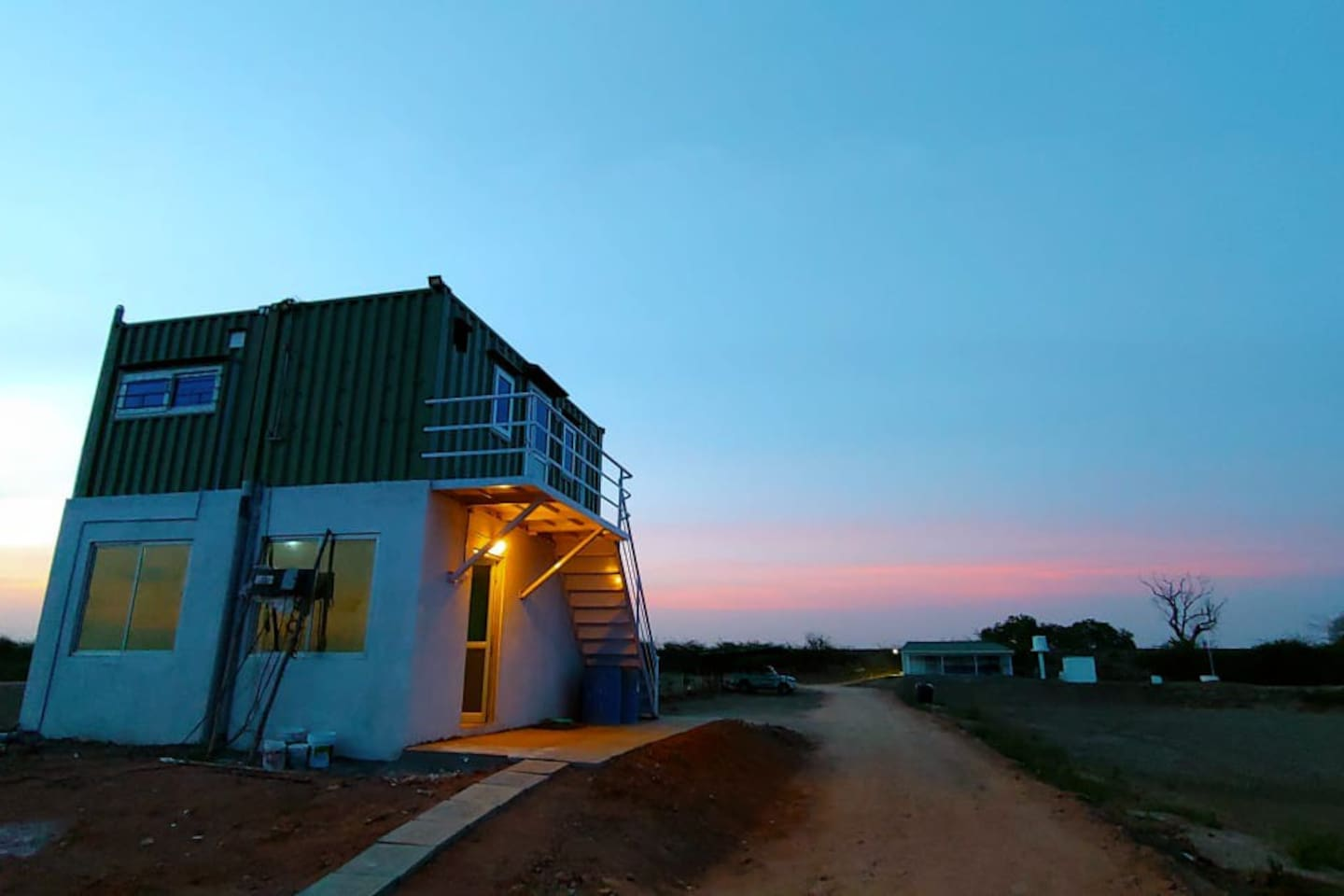 Container rooms during Sunset