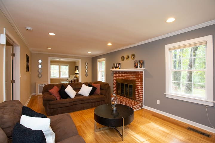Living Room area with fireplace