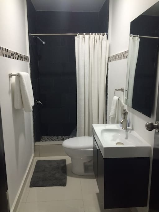 1 bathroom, shared by both bedrooms