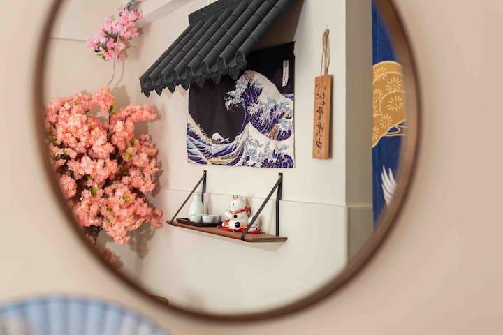 『桜にほんご』私人影院&日式风格&和服&卫生消毒&独套公寓&密码轻松入住#正佳、太古汇商圈#ようこそ