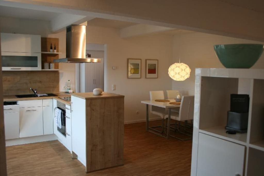 Lüneburg, Ferienwohnung Loft im Speicher, Küche