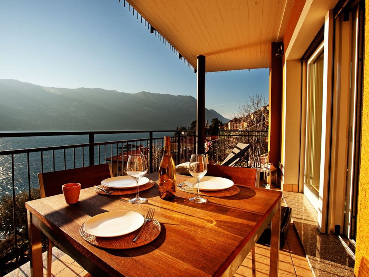 Dining with a view on your private balcony