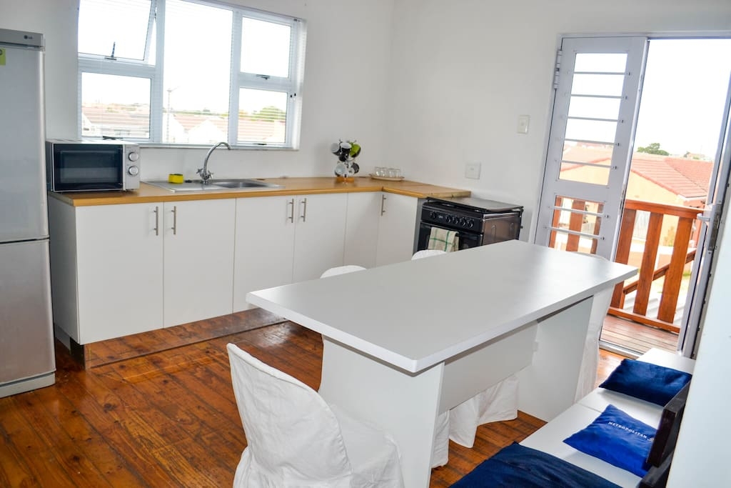 Shared Kitchen space available to use for cooking or food preparation.