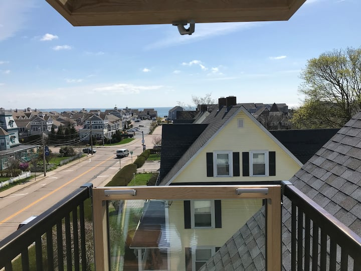Newly Reno'd w/ Ocean View! Minutes to Town Beach!