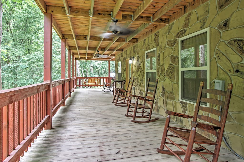 Kick back in one of the rocking chairs and enjoy the views before you!
