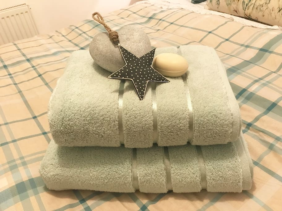 Fluffy towels await you on arrival!