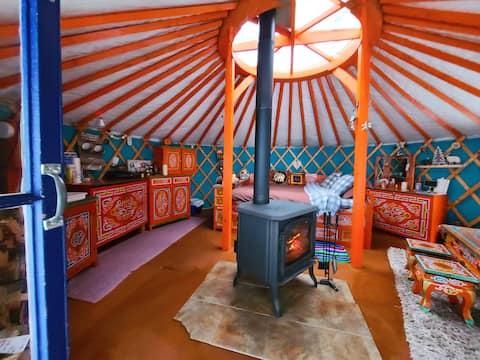 The travelling yurt!