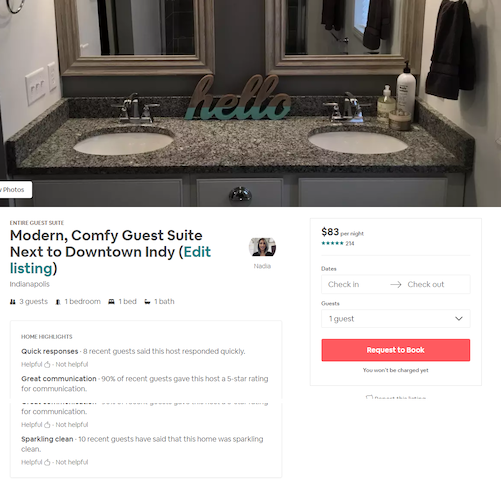 Over 200 5 star reviews on previous profile! See for yourself... https://www.airbnb.com/rooms/16691515