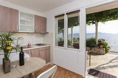 Apartments Stipo - One Bedroom Apartment with Terrace and Sea View (A4)