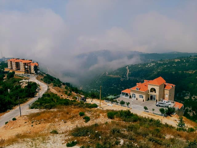 Amazing view situated on a hill over Byblos city