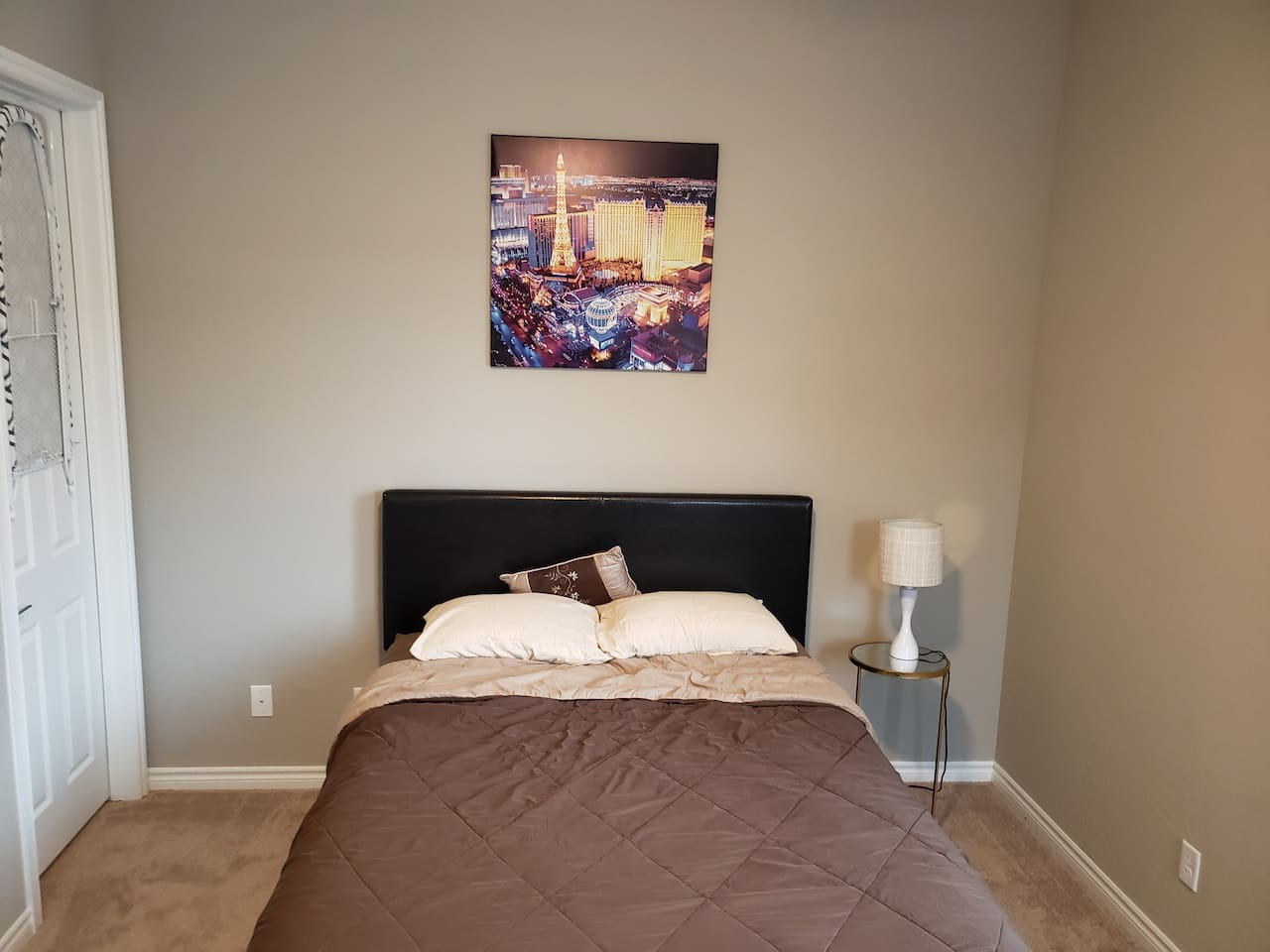 Queen Size Bed with nice, soft mattress