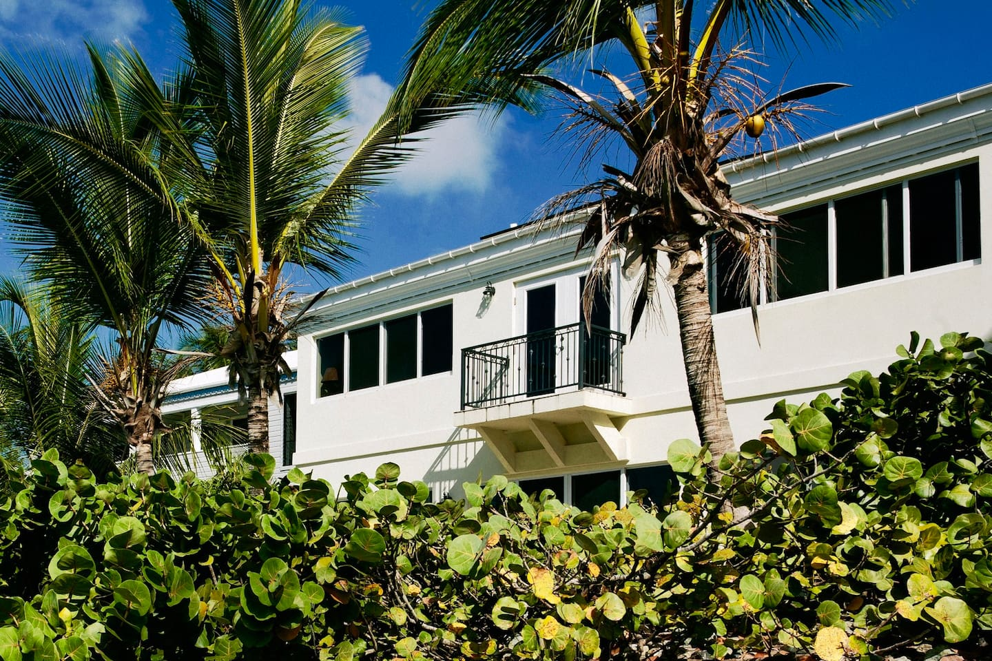 Three Palms is an exceptional waterfront two story Villa. We are walking distance to Cruz Bay shopping and restaurants. Stay near the trail head to National Park beaches Honeymoon and Solomon Bay. Vacation in a beautiful elegant home that provides everything you need to experience your St. John adventure.