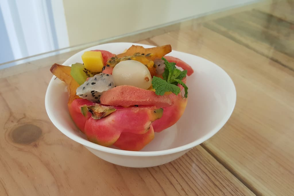 Salade de fruits du brunch (fruits de saison)
