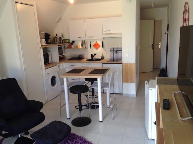 Studio à dinard dans qtier résidentiel la vicomte.