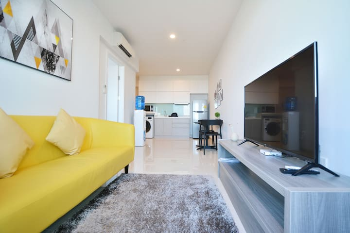 1BR Apartment Highfloor/Wifi/Clean/Comfy/Safe
