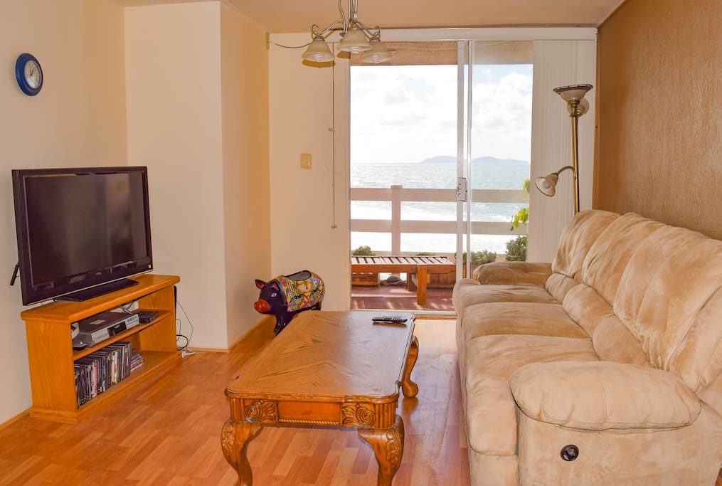 Shared Living Room, TV (internet + cable) access to deck.