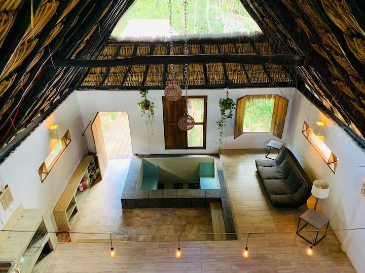 Cabaña en medio de la selva, espléndida y cómoda!
