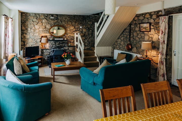 Walk into the open plan lounge/kitchen/diner - a great holiday space