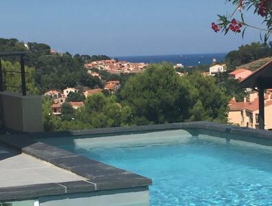 Villa moderne de standing Collioure vue sur mer - Collioure