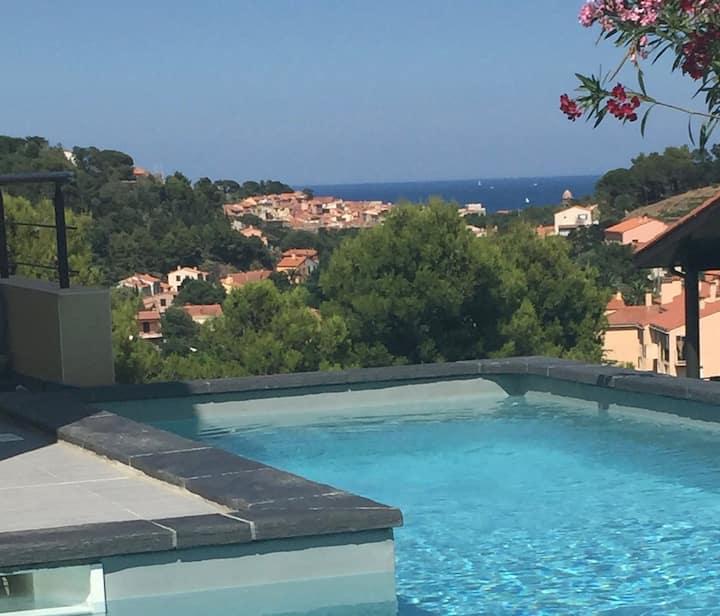 Villa de haut standing Collioure vue sur mer