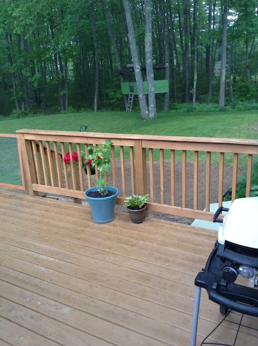 Deck with grill (new patio in other photos)