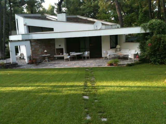 Villa with garden at Sani Resort