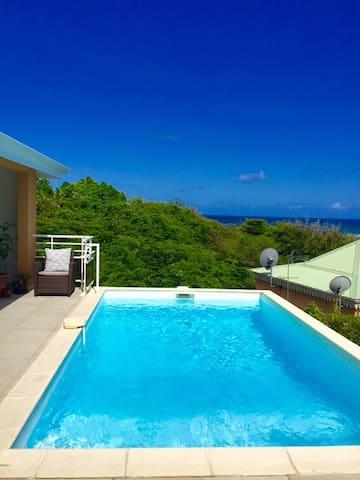 Superbe Villa vue mer avec piscine - Anse des Rochers - Rumah