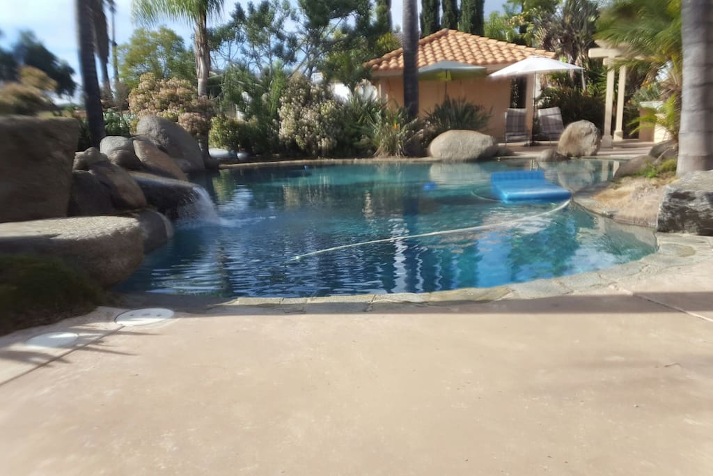 Beautiful pool with spa and patio