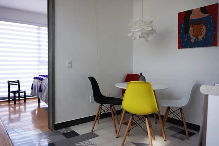 Attractive studio apartment Coyoacán