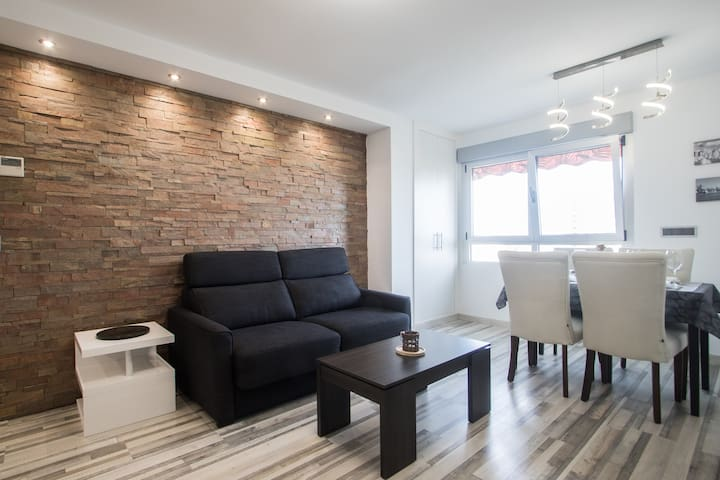 Salon- sofa cama con apertura italiana