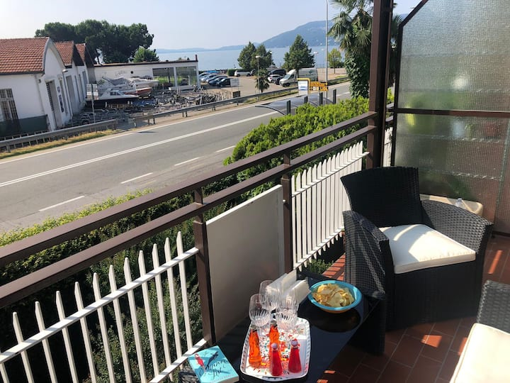 Romina apartment in Verbania with balcony and lake view
