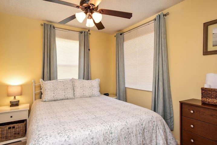 Bedroom #2 with new queen bed