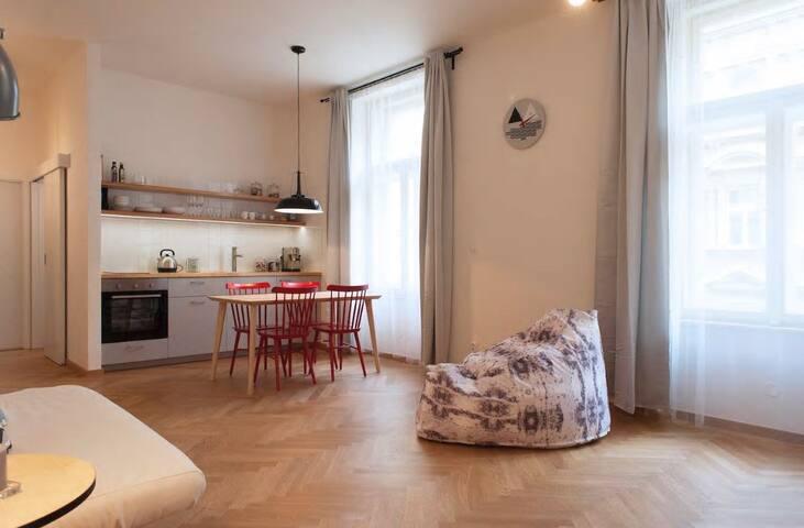 Comfy & Central apartment ❤️  Letná