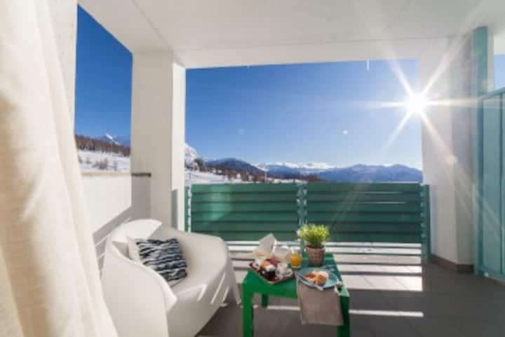 Apartment on the slopes in a 4 * residence