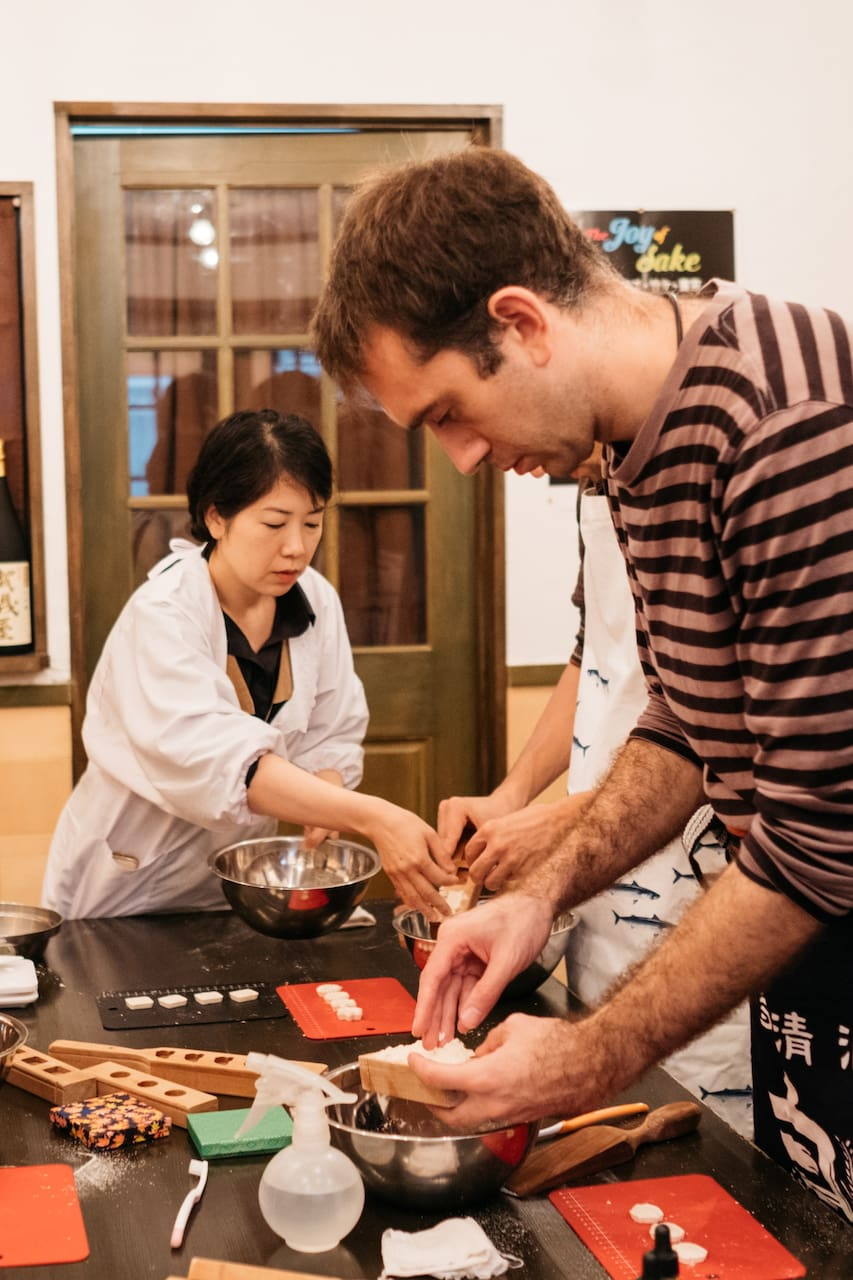 Sweets Making and Onigiri Lunch
