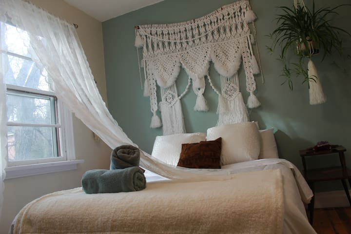 Any of the lovely macrame wall hangings are for sale... so if you 'just can't live without it!'... you may purchase it!