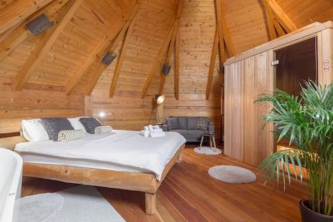 ★Little wooden Wellness House Izabela★Relax★