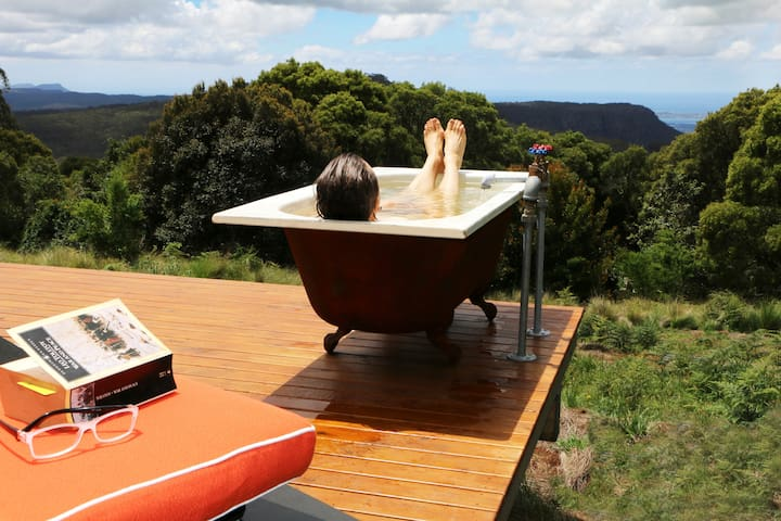 Enjoy the spectacular view from your private open air bathtub.
