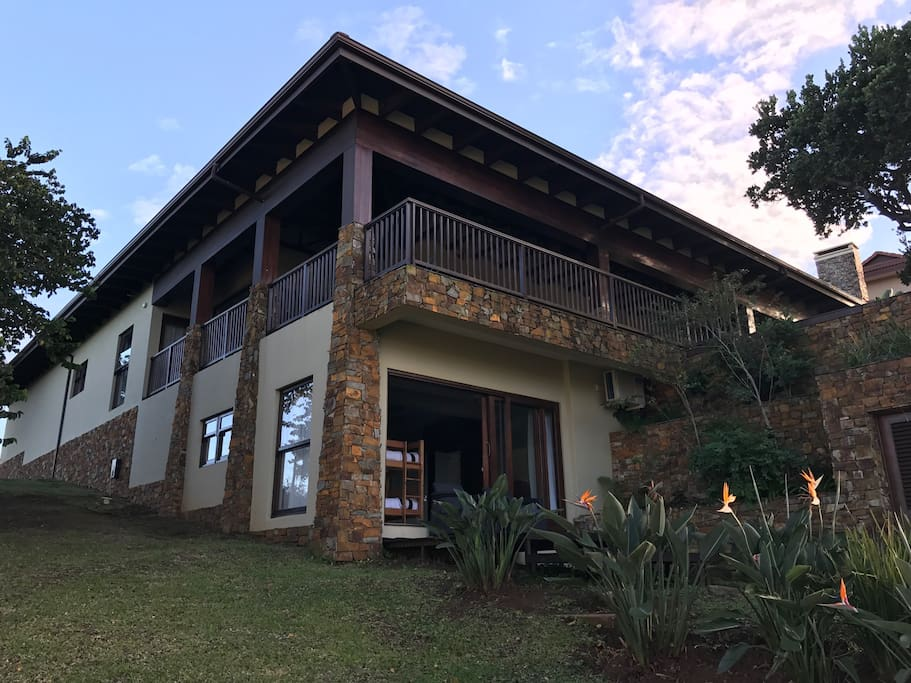 Villa with wrap around balcony upstairs