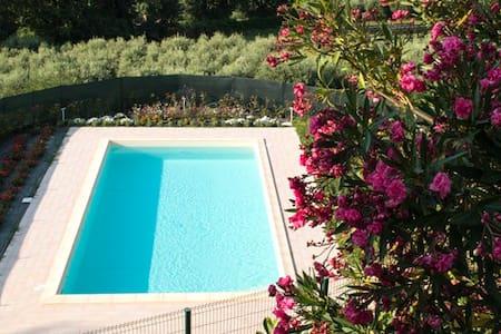 Camera doppia in b&b con piscina e ristorante - Mogliano - 家庭式旅館