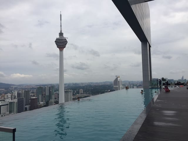 Infinity Pool with stunning view of KL city centre - Kuala Lumpur - Departamento