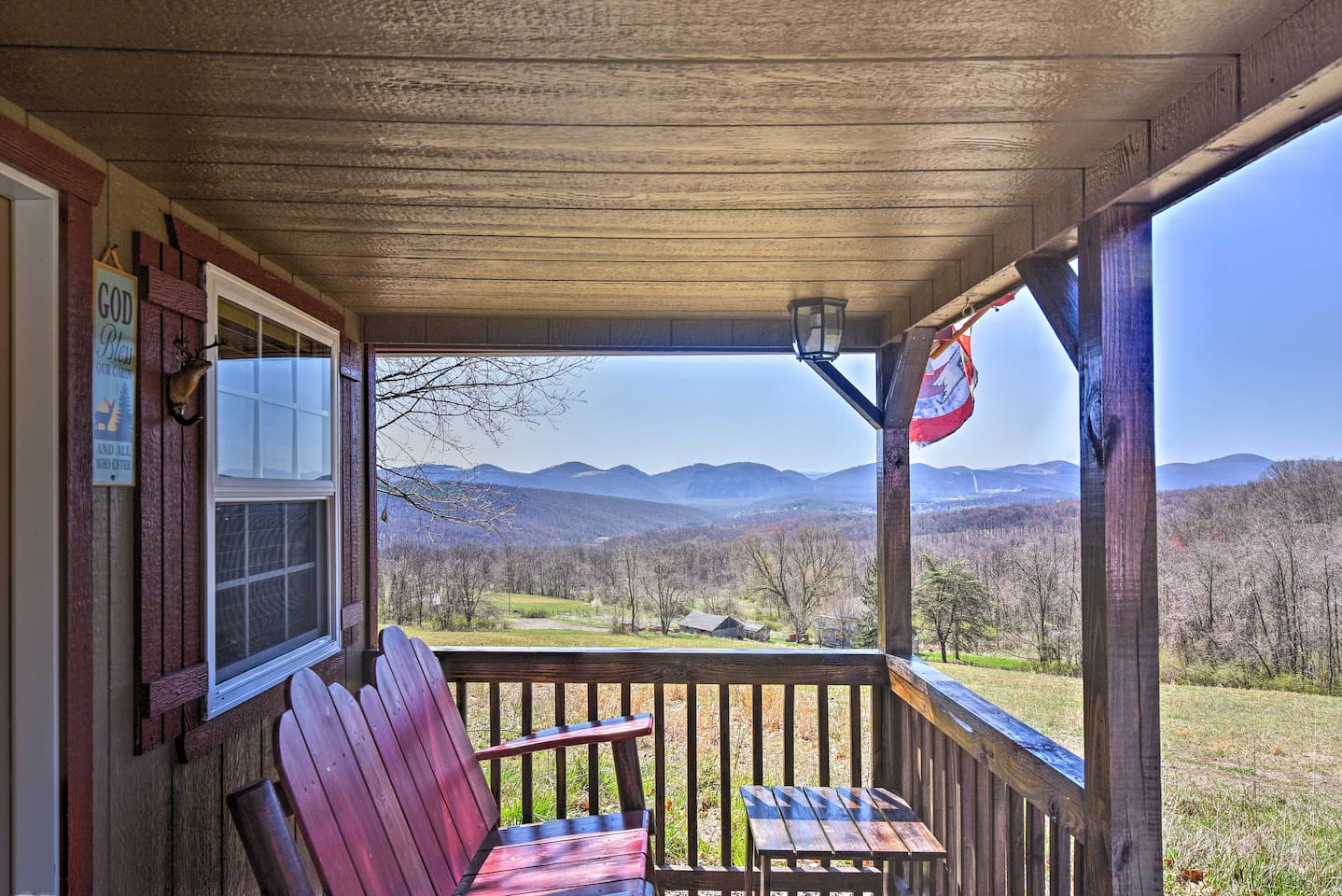 Claim these mountain views as your own when staying at this Cumberland cabin!