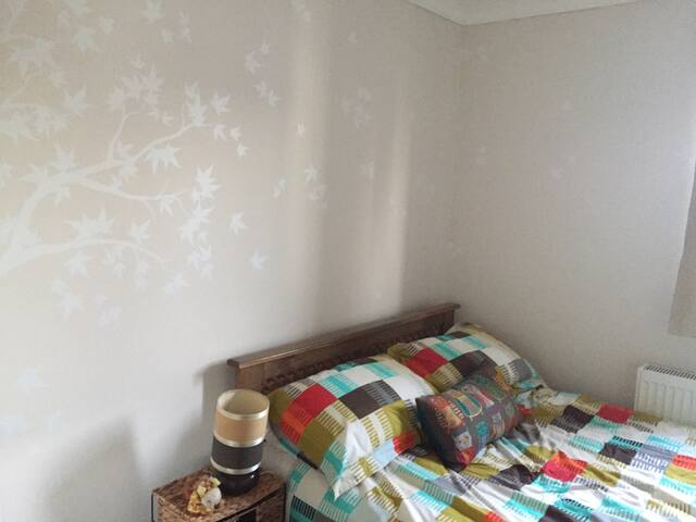 Large, sunny double room in two bed flat TW2