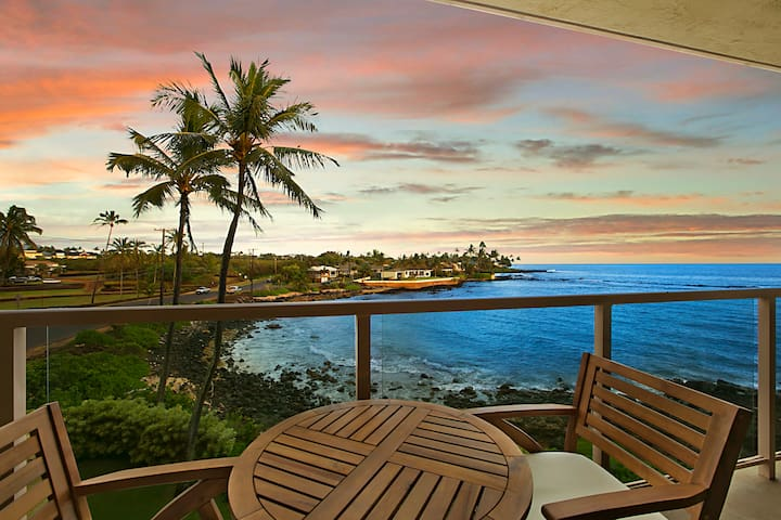 Kuhio Shores 303: Oceanfront, AC, Surf And Snorkel Nearby Free Midsize Rental Car For You And Your Family