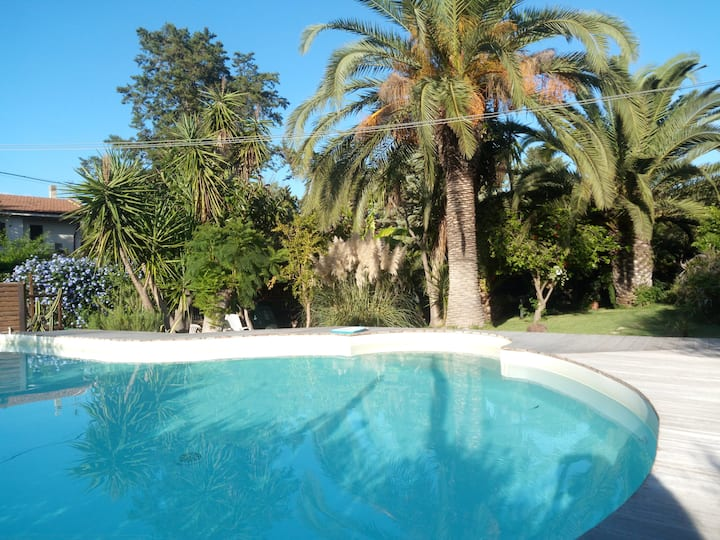 Studio in villa with shared pool open till Oct 12