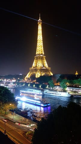 INCREDIBLE DIRECT VIEW OF THE  EIFFEL TOWER/SEINE