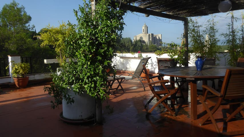 3 bed apt w/Private Rooftop terrace for 6p & airco