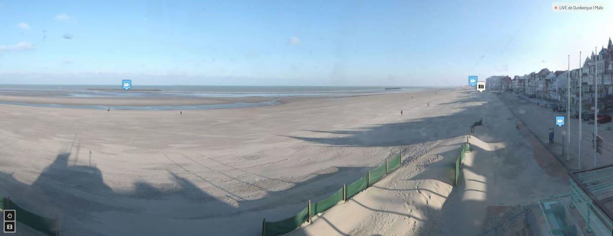 Magnifique T3 - sur la plage avec vue mer